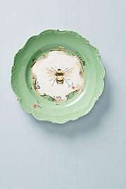 Natural World Dessert Plate, Bee