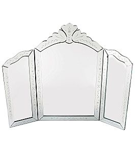 Anthropologie - etched triptych mirror :  mirror home vanity decor