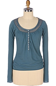 Anthropologie - :  blue blouse find steal splurge