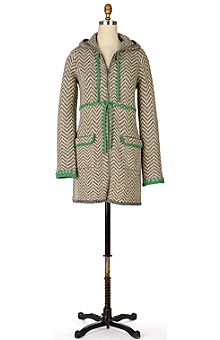 Anthropologie - :  coat lambswool green hooded