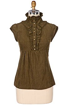 Anthropologie - :  blouse victorian shirt corduroy