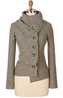 Anthropologie's funnel neck cardigan