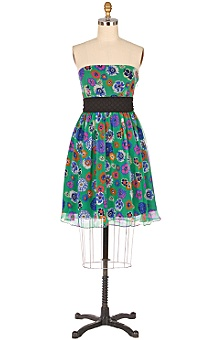 verdant strapless dress from anthropologie.com