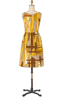 Anthropologie - naples yellow dress :  fall dress anthropologie