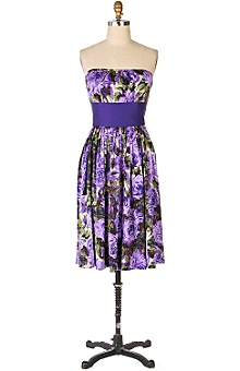 Anthropologie - peony garden dress :  floral silk purple clothing
