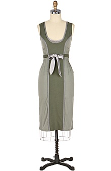 marching dress :  silk twill sage dress