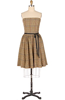 glen plaid dress, from Anthropologie from anthropologie.com