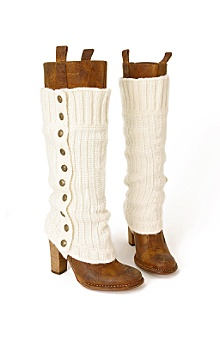 puttin' on the ritz spats - Anthropologie :  women rib knit legwear stirrups