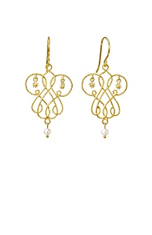 Anthropologie - :  jewelry pearl gold earrings
