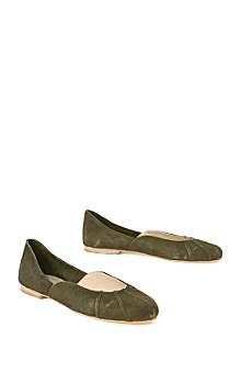 Anthropologie - Miss Priss Ballerinas :  green shoes fall flats