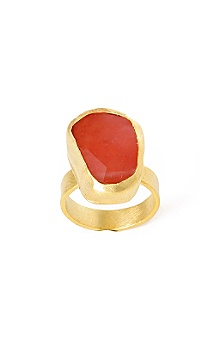 Anthropologie - :  quartz red gold jewelry