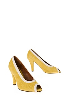Anthropologie - :  heels shoes suede yellow