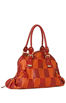 Leather Checker Shoulder Bag - Anthropologie
