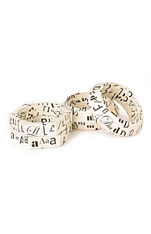 Anthropologie - a to z bangles :  jewelry wood paper alphabet