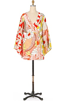 Anthropologie - silk kimono robe :  kimono silk robe clothing