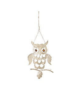 Anthropologie - linked owl ornament :  holiday ornament nature-inspired owl