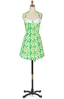 Anthropologie - Raindrops Apron :  apron green hostess gift
