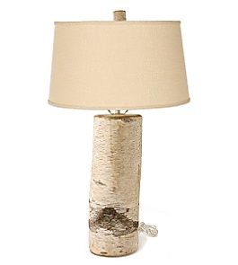 Birch Log Lamp :  lamp home woodsy log