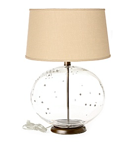 Anthropologie - glass boulder lamp :  lamp base home lighting hand blown