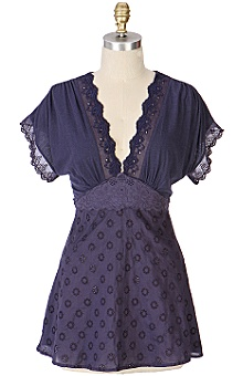 Anthropologie - alchemy tie-back :  kimono fashion top eyelet