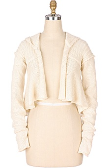 Anthropologie - Ribbed Hoodie :  jackets womens clothing anthropologie
