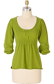 Anthropologie - gather 'round scoopneck :  top clothing green sweater