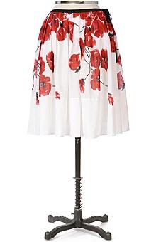 Poppy Print Skirt