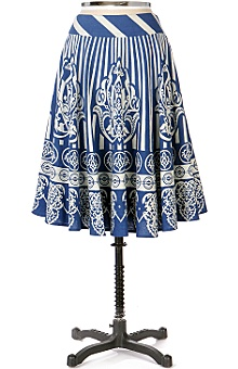 Anthropologie - Folk Dance Skirt :  stripe wear skirt