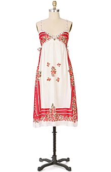 Anthropologie - berry bowl dress :  anna sui fashion tablecloth white