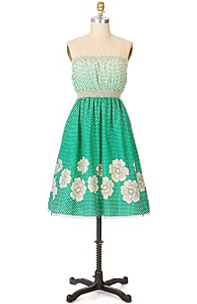 Anthropologie - Groves of Palm dress