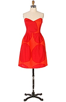 Anthropologie - red balloon dress :  spring dress marimekko anthropologie