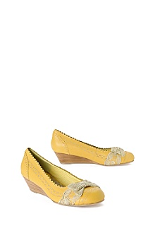 Anthropologie -  goldenrod mini-wedges