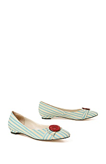 Anthropologie - :  blue red buttons stripes