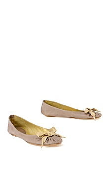 Maloles dove grey/gold flats