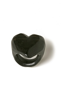 Anthropologie - :  heart ring black ring cocktail ring heart