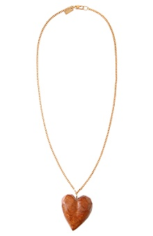 Anthropologie - :  wood pendant necklaces heart