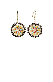 bulls eye earrings - anthropologie