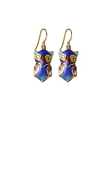 Anthropologie - :  blue owl earrings anthropologie