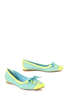 Maloles yellow/teal flats
