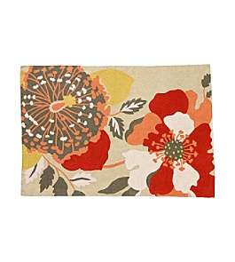Anthropologie - :  floral home accents home decor rug
