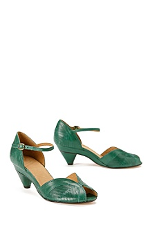 Anthropologie -  :  shoes low heel green heel