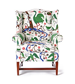Anthropologie - :  nature chair upholstered print