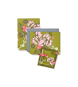 Anthropologie - :  floral green note card scent