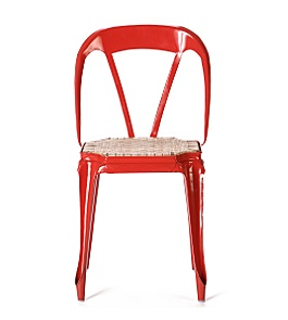 Anthropologie - :  home chair furniture red