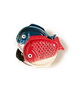Anthropologie - little fish plates :  plate home accessories home goods tabletop