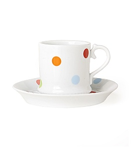 Anthropologie - :  porcelain pokadots cup and saucer anthropologie