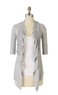 Anthropologie.com > Garabaldi Cardigan :  clothing cardigans pleats origami