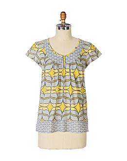 Anthropologie.com > Lemon Drops Tee :  womens clothes anthropologie yellow grey