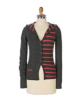Anthropologie.com > Fifty-Fifty-Split Cardigan :  wool cardigan grey fall 2008