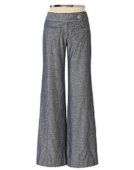 Fraktur Wide-Legs - Anthropologie.com :  trouser denim anthropologie elevenses